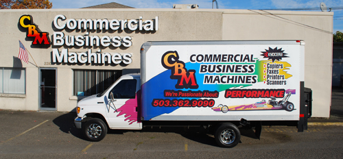 Commercial Business Machines Van and Store Front
