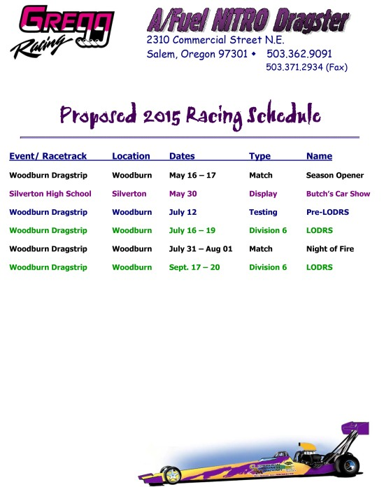 Microsoft Word - 2015 Racing Schedule.docx